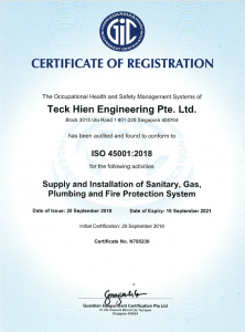 Obtained ISO45001-2018